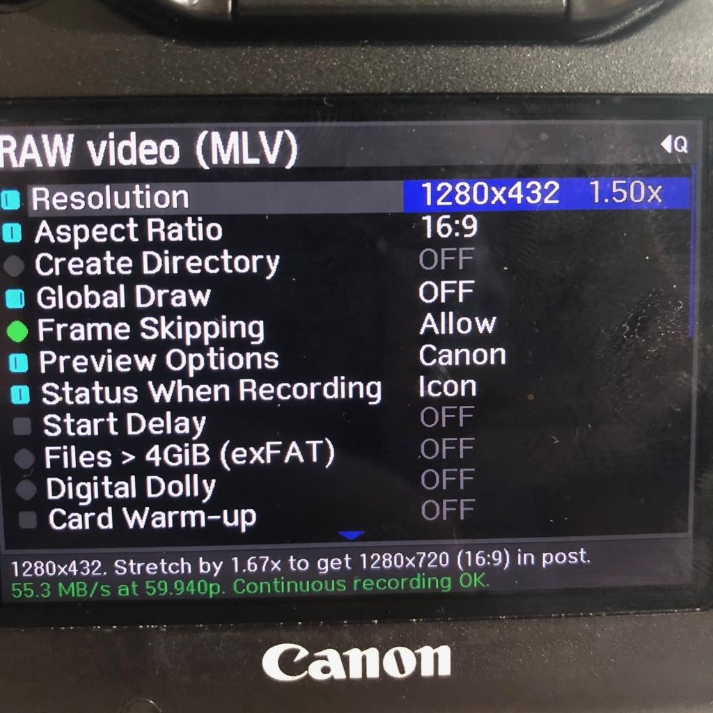 Magic LanternをインストールしたEOS 5D3でraw動画を撮影して編集 | DLE work