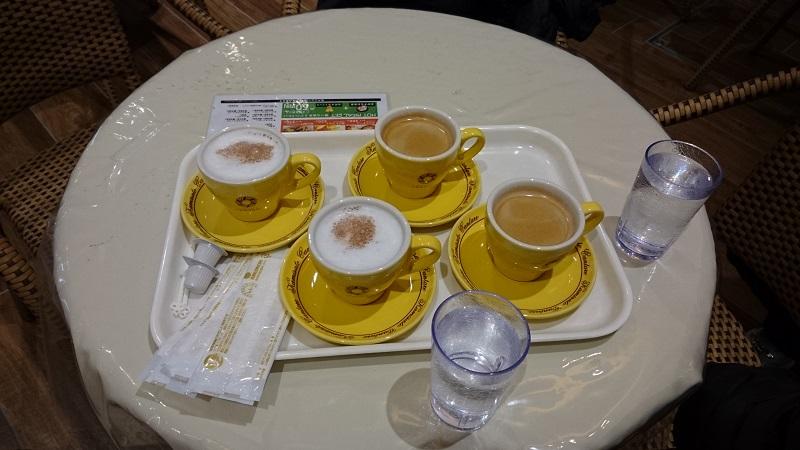 上里カンターレ店内1F コーヒーとココア
