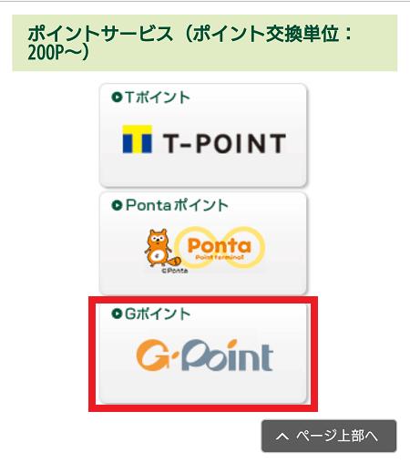 G-Pointのアイコンを赤枠で囲った画像