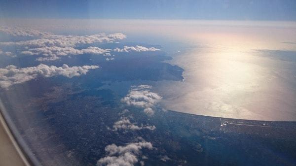 沼津付近の機内からの写真