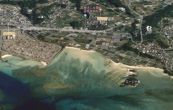 沖縄県糸満市上空のGoogle Map 3D