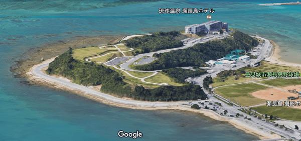 那覇空港着陸直前のGoogle Map 3D