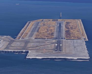 羽田空港滑走路のGoogle Map 3D