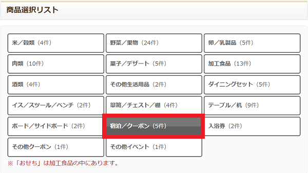 栃木県矢板市の商品選択リスト