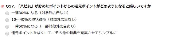 ハピタスの入賞者アンケートQ17