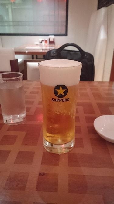 広東家菜 生ビール小