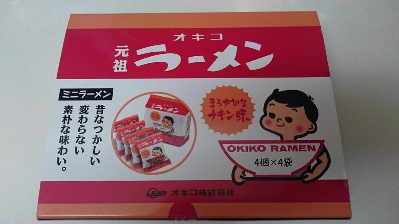 オキコ 元祖ラーメン 外箱
