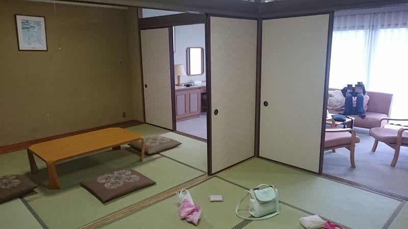 宿泊した部屋の写真 続き間の和室