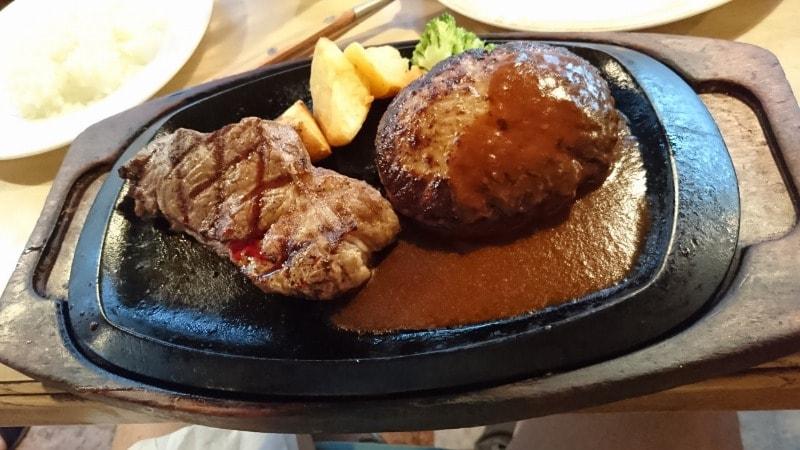 サーロインステーキ(150g)&ハンバーグ