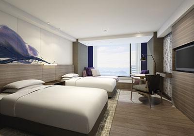 琵琶湖マリオットホテルの客室