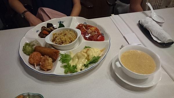 グランドプリンスホテル新高輪「中国料理 古稀殿」のキッズプレート