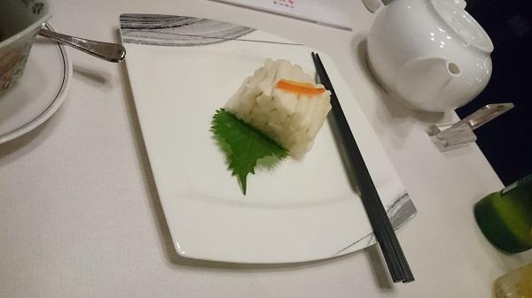 グランドプリンスホテル新高輪「中国料理 古稀殿」 白菜の甘酢漬け
