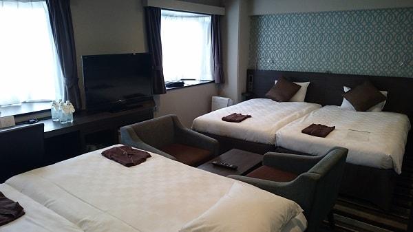品川プリンスホテルNタワーの部屋 ベッド