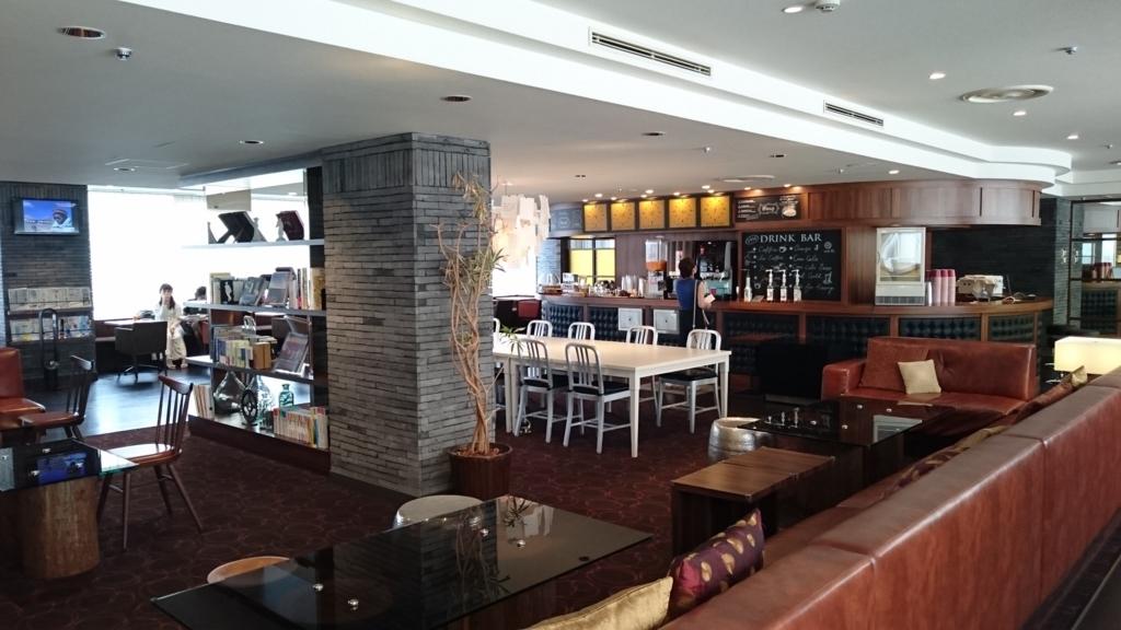 品川プリンスホテル Nタワー 昼下がりのビジネスラウンジ内部 空いてます