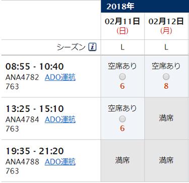 2017年2月11日・12日 旭川⇒羽田