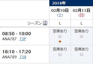 2017年2月10日・11日 羽田⇒大館能代