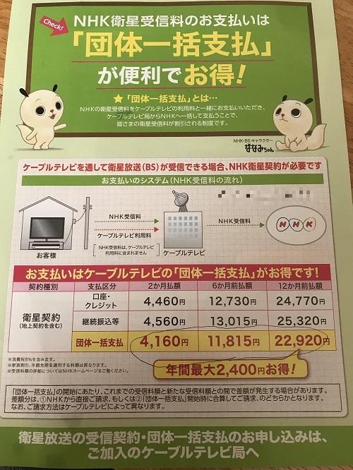 J:COM NHK一括支払