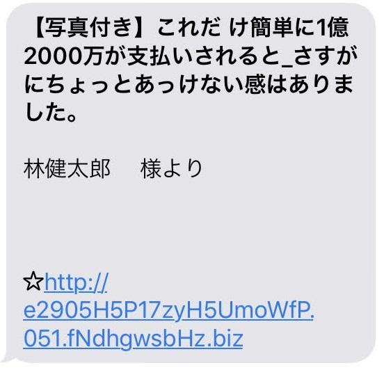 小日向清恵 林健太郎 1億2000万