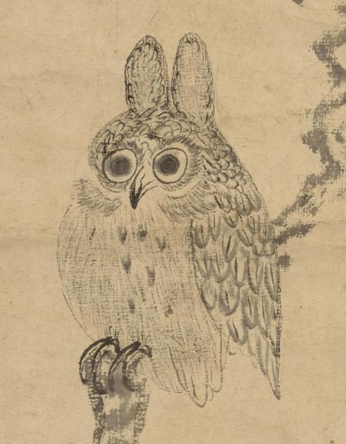 徳川家光 木兎図