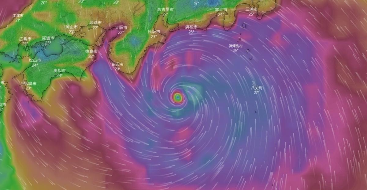 Windy 台風19号