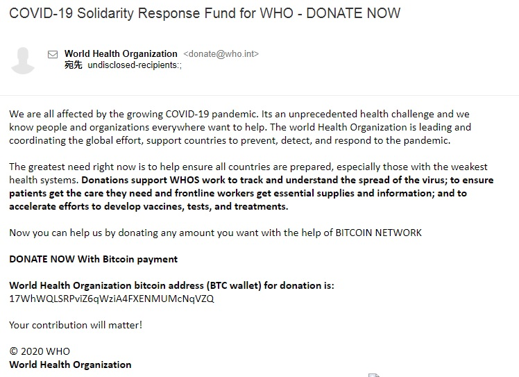 COVID-19 Solidarity Response Fund for WHO - DONATE NOW