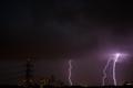 2012年9月2日 自宅から見た雷雨
