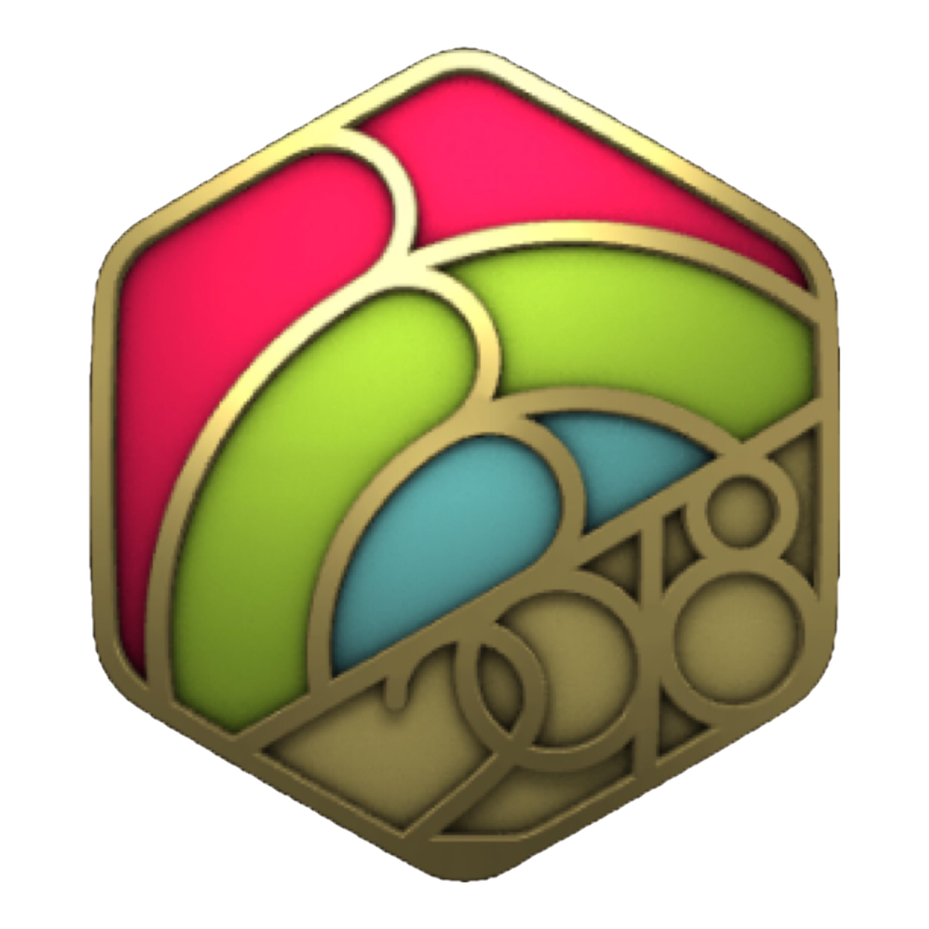 Apple Watchの「謹賀新年チャレンジ」の2018年1月版で獲得したバッジ。