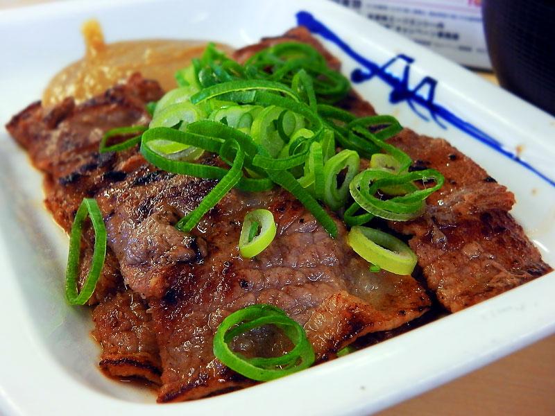 松屋 味噌漬け牛カルビ定食