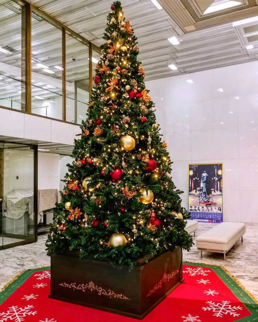 大きなクリスマスツリー