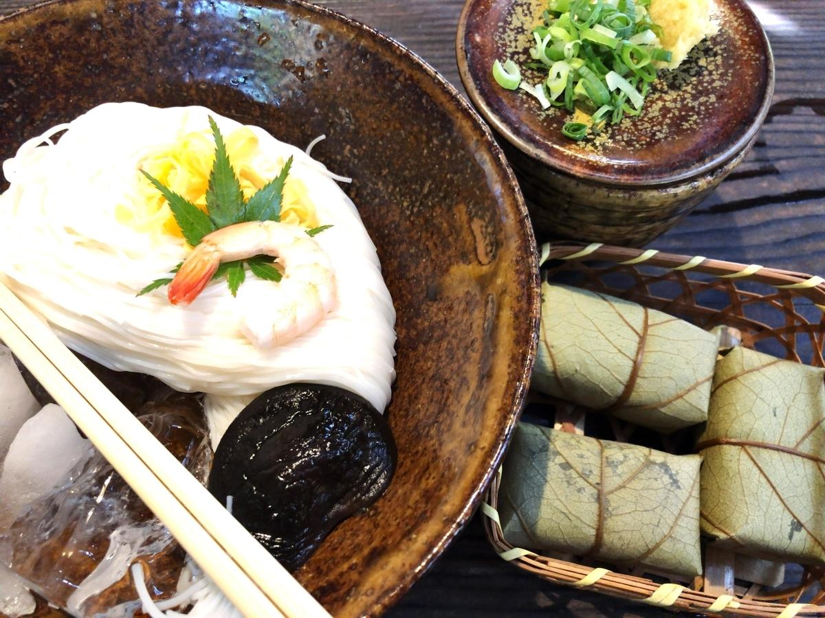 三輪そうめん 柿の葉寿司