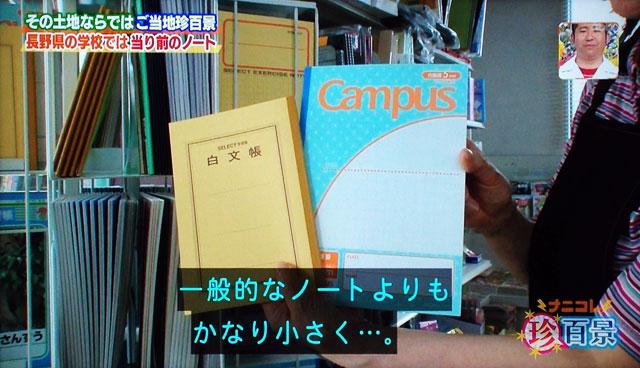 白文帳は長野特有のもの?