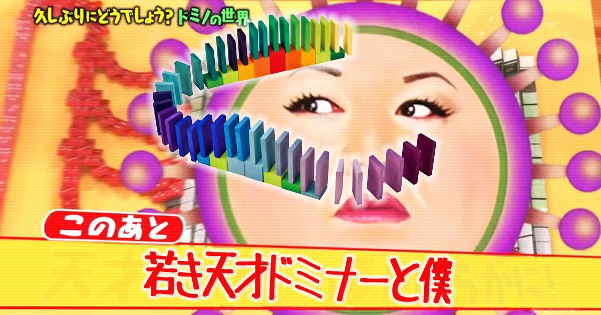 マツコの知らない世界で日本ドミノ界の若き天才