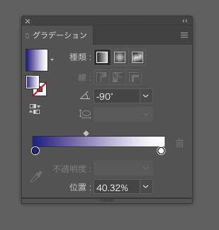 Illustratorのグラデーションパネルの画像