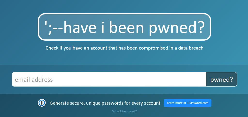 「Have I Been Pwned?」