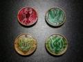 [製品]オーメダル4枚ゲット!縁が金属なので重い。初めて知った。