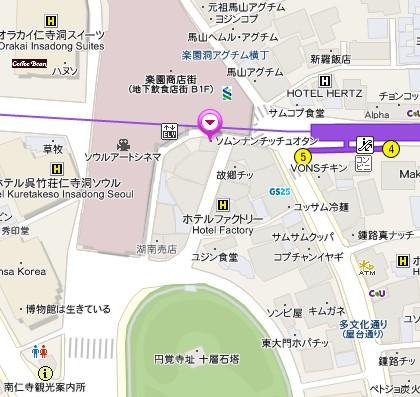 ソムンナンチッ(ソムンナンチッチュオタン)地図
