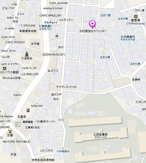 北村展望台の地図