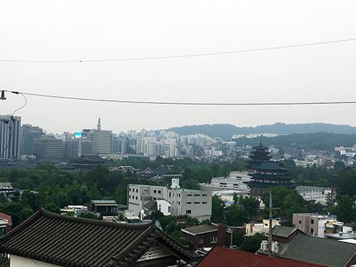北村展望台からの風景景福宮側
