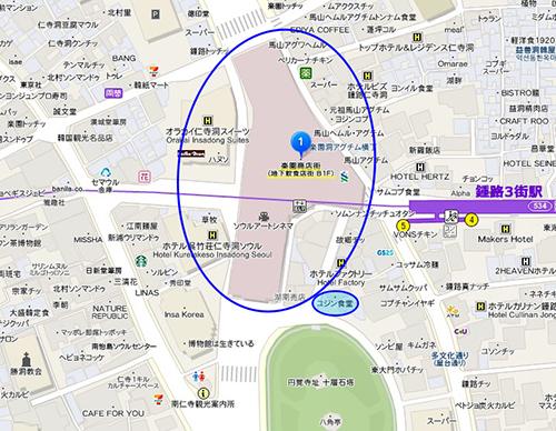 楽園楽器商店街 地図