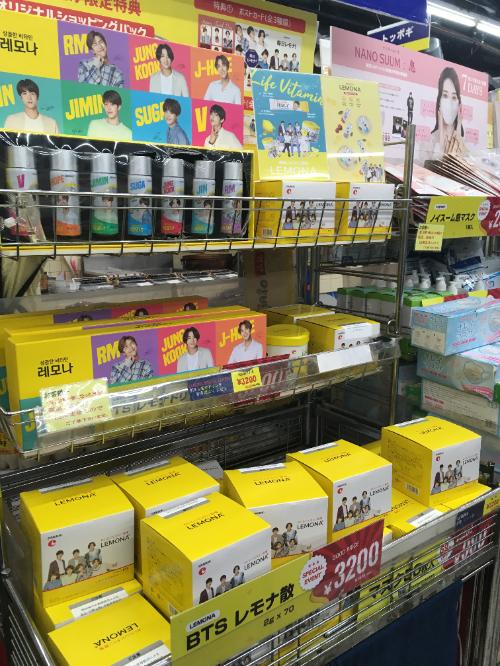 レモナ×BTSコラボ商品in新大久保