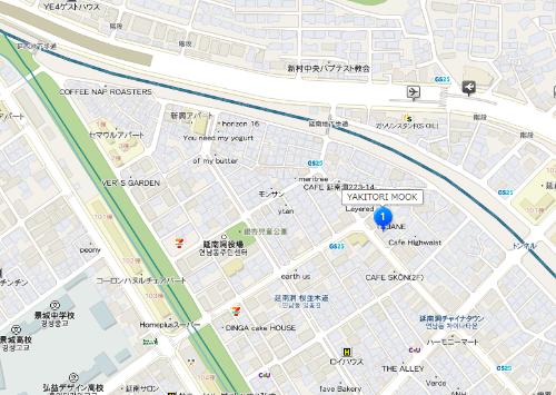 ビブグルマン「YAKITORI MOOK」inソウル延南洞 地図