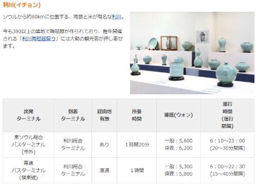 韓国「百年の店」長興会館 in京畿道利川市へバス