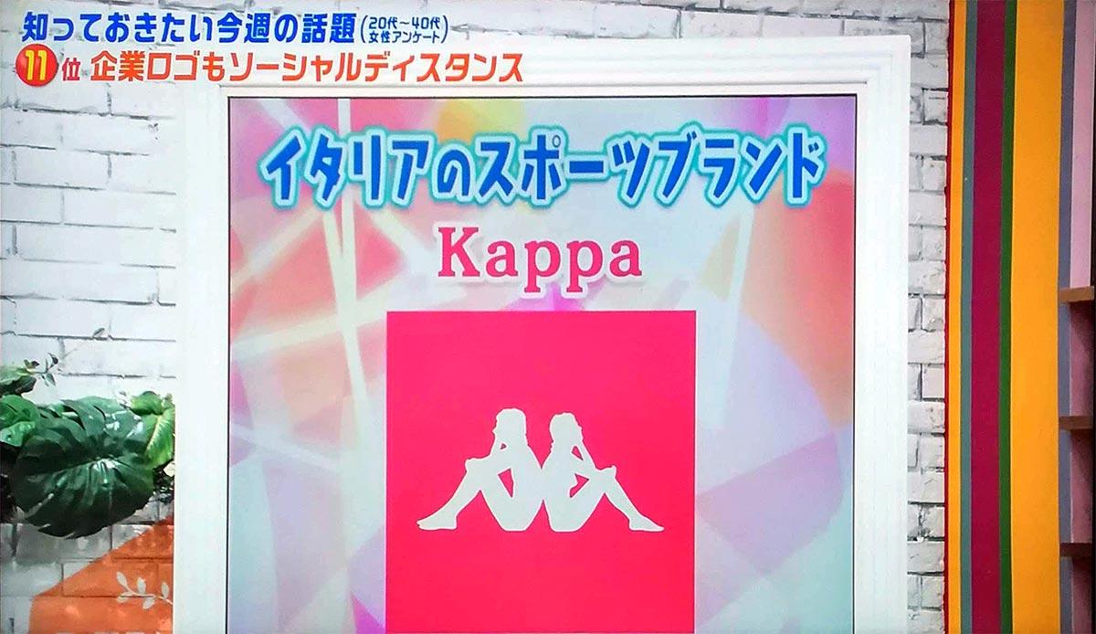 Kappaのソーシャルディスタンス・ロゴ