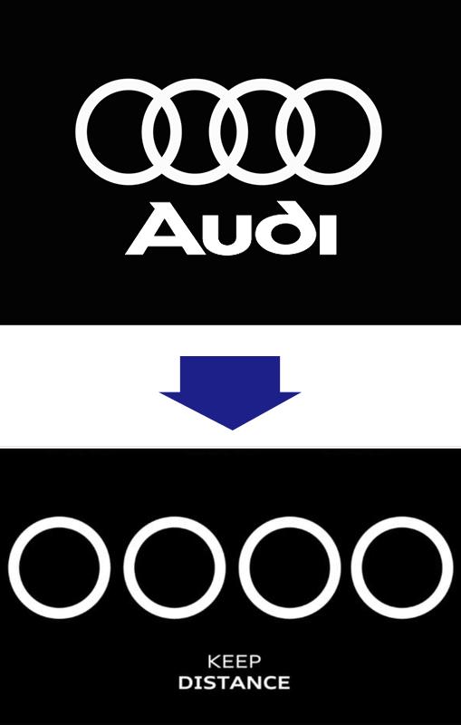 アウディのソーシャルディスタンス・ロゴ