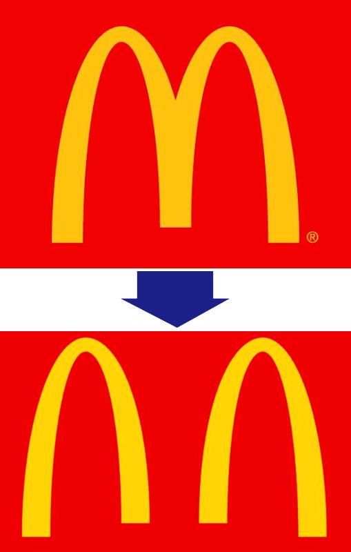 マクドナルドのソーシャルディスタンス・ロゴ