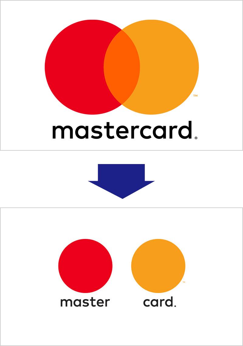 マスターカードのソーシャルディスタンス・ロゴ