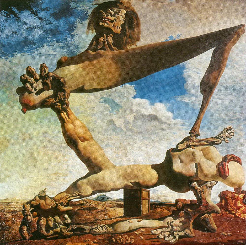 サルヴァドール・ダリ 「茹でたインゲン豆のある柔らかい構造(内乱の予感)」