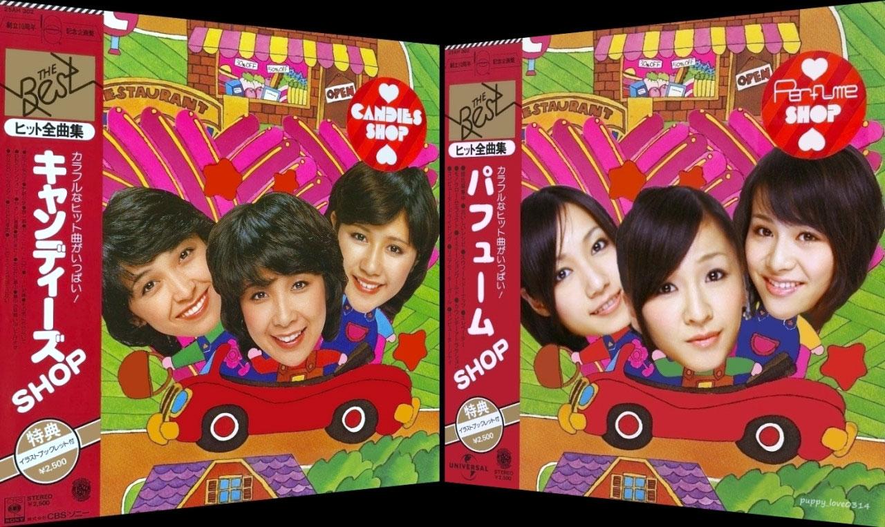 キャンディーズSHOPとPerfumeSHOP