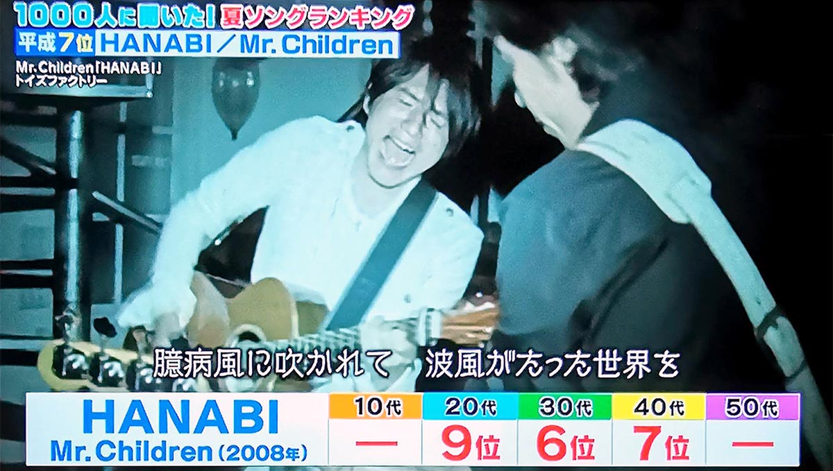 第7位:HANABI(Mr.Children)