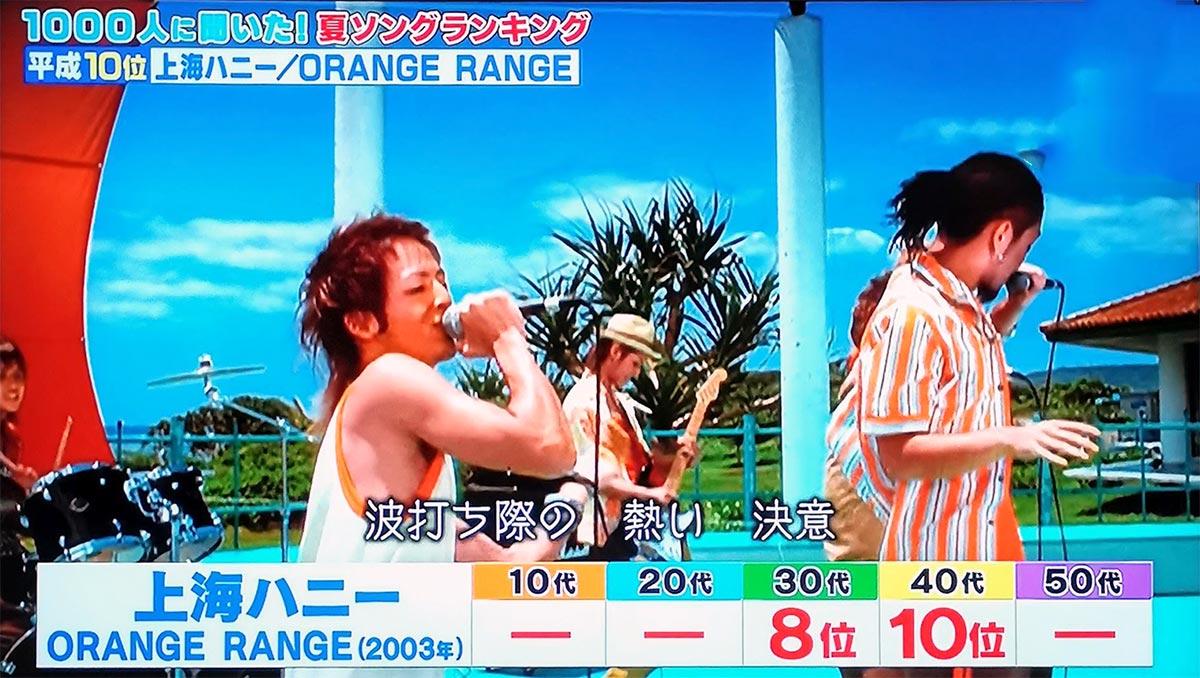 第10位:上海ハニー(ORANGE RANGE)